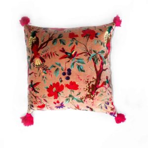 Birds of Paradise Cushion - Pink - Palm Edit