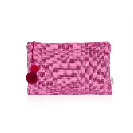 Dark Pink Pattern Large Clutch - Palm Edit