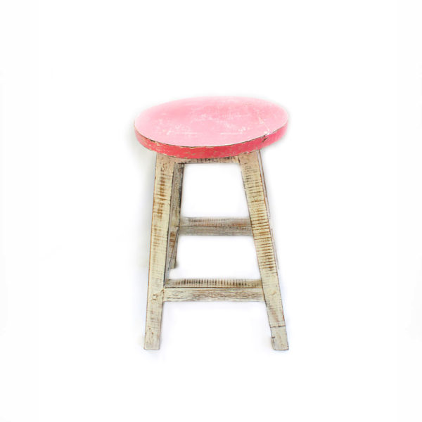 Hand Painted Wooden Stall Pink - Furniture - Palm Edit