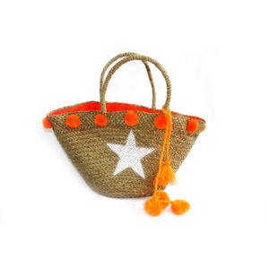 Large Star Pom Pom Belly Bag - Orange - Palm Edit