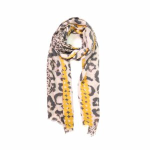Leopard Print Scarf - Palm Edit