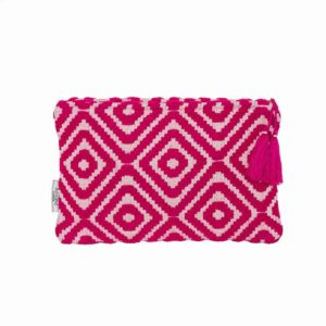 Magenta Diamond Geo Pattern Small Clutch - Palm Edit