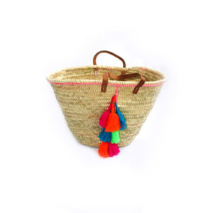 Morrocan Tassel Beach Bag - Multi - Palm Edit