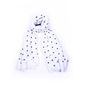 Navy Star Scarf - White - Palm Edit