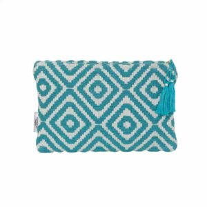 Turquoise Diamond Geo Pattern Small Clutch - Palm edit