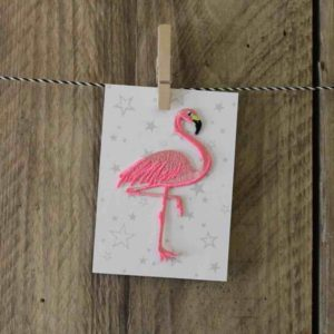 Flamingo Iron on Patch - Palm Edit