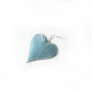 Hanging Heart Decoration - Blue - Palm Edit