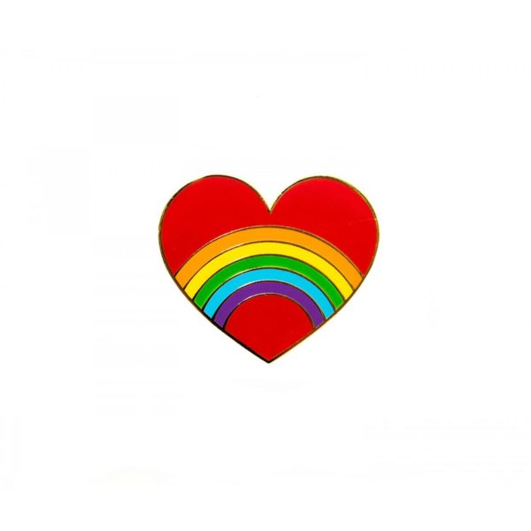 Rainbow Heart Pin - Palm Edit